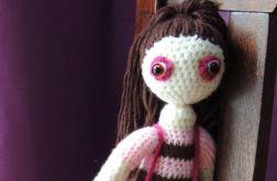 Lalka szydełkowa - Maja w paski