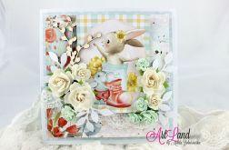 Kartka Wielkanocna z zającem 1