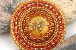 Medalion Orange Dragonfly