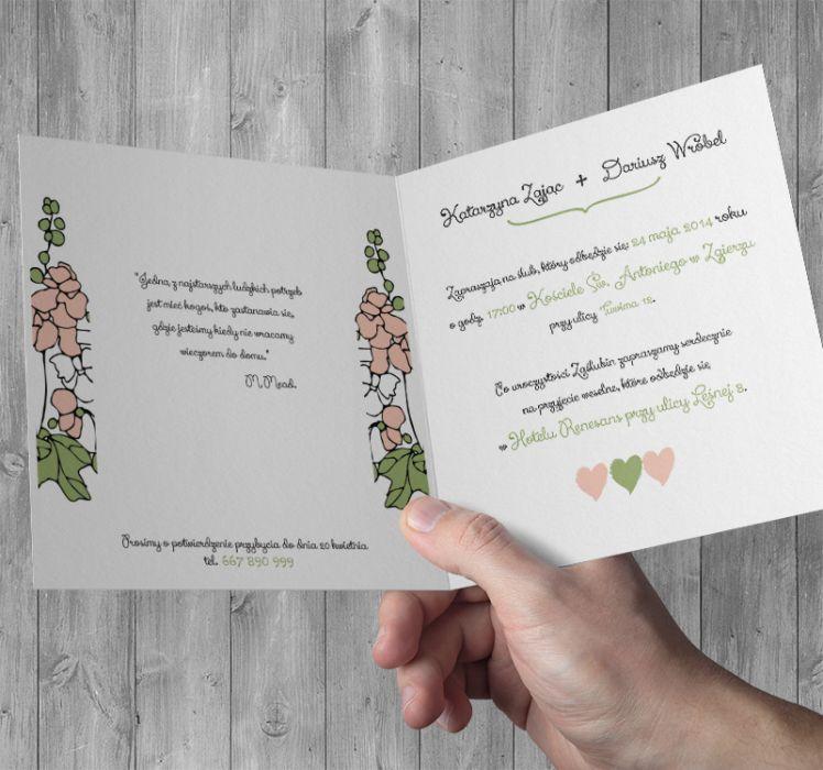 Zaproszenia na Ślub z Okiennicami