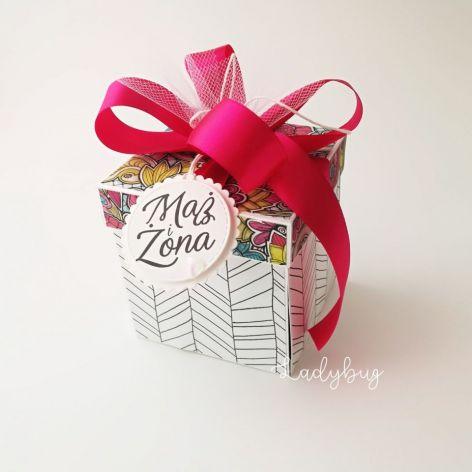Pudełko na ślub Witraż Fuksja 1
