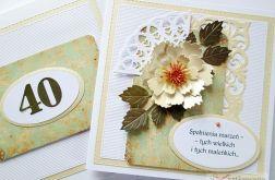 Kartka URODZINOWA z kremowym kwiatem