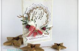 Kartka świąteczna z reniferem, jeleniem 1