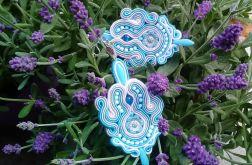 Kolczyki sutaszowe Blue Flowers