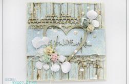 Delikatna kartka na Ślub z kwiatami 7