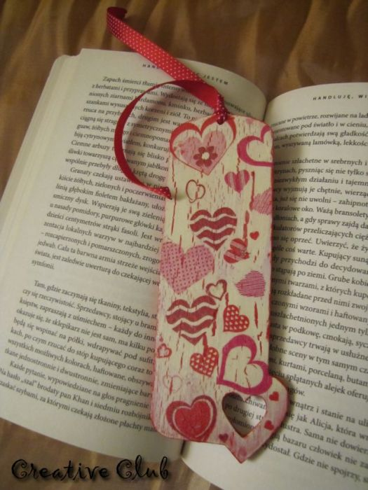 Serca - zakładka do książki