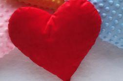 Walentynki poduszka czerwone serce prezent 30x30