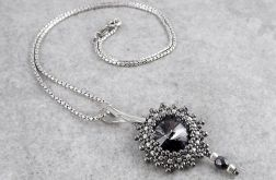 Zawieszka Beaded Swarovski Elements - Silver Night in Nickel