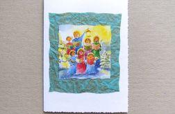 Kartka świąteczna-aniołki