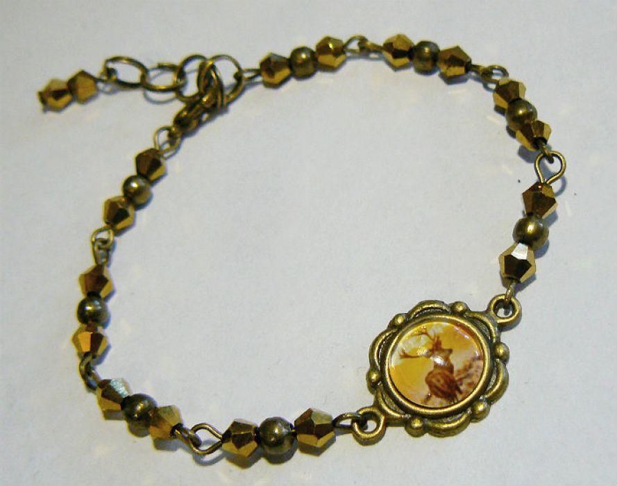 Jeleń - biżuteria z grafiką