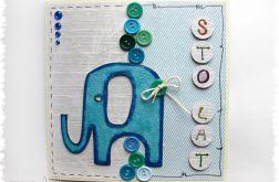 Kartka urodzinowa ze słoniem
