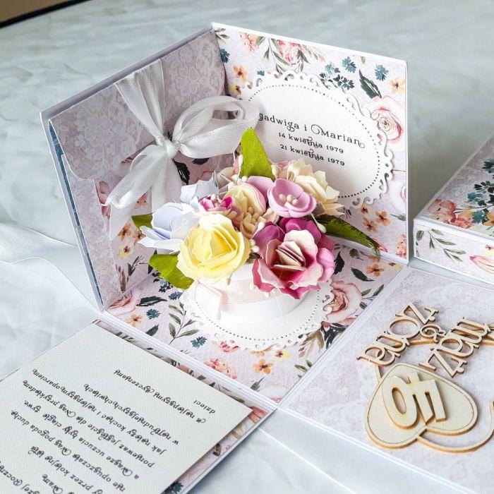 Kartka w pudełku- rocznica ślubu #00001