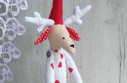 Renifer Tilda, ozdoba Boże Narodzenie GOTOWY