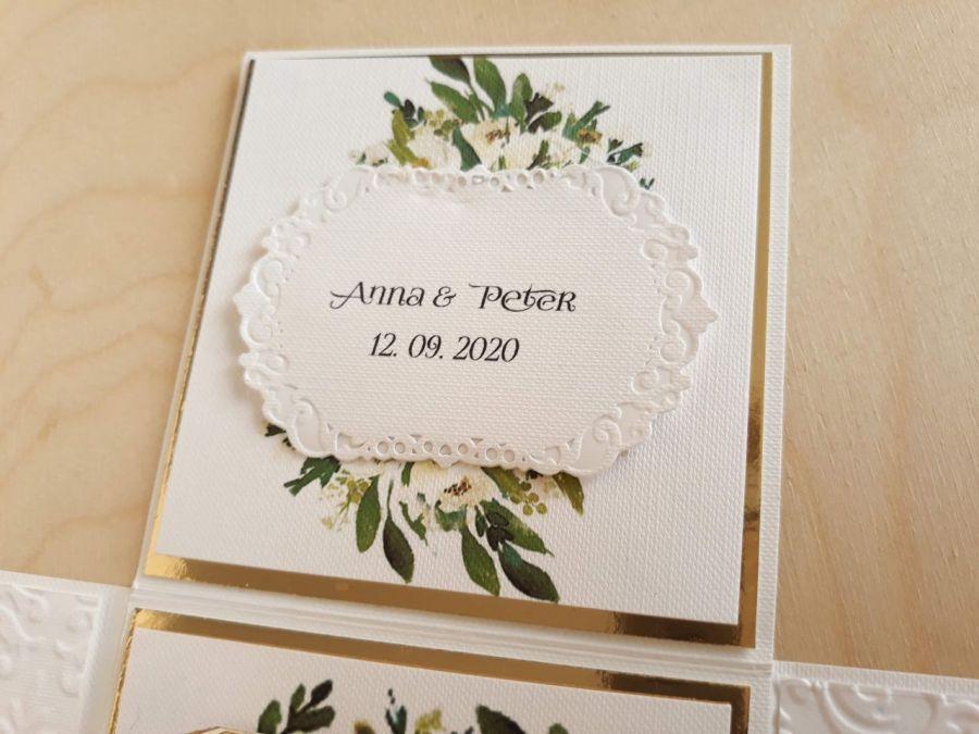 Kartka na ślub Exploding box ślubny #0006 - kartka ślubna pudełka z imionami