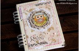 Niepowtarzalny romantyczny Notes z sową #12