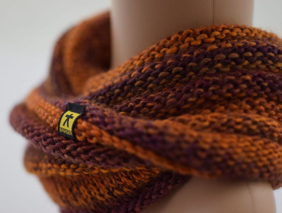 komplet w rudościach - czapka i komin