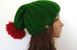 czapka ściągaczowa z pomponem - kolory