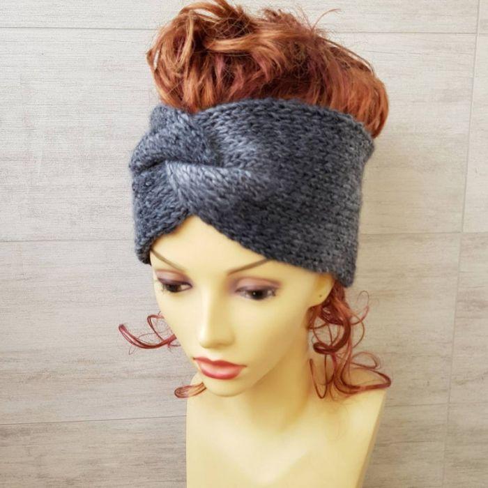 Opaska ombre, turban, gruba - null