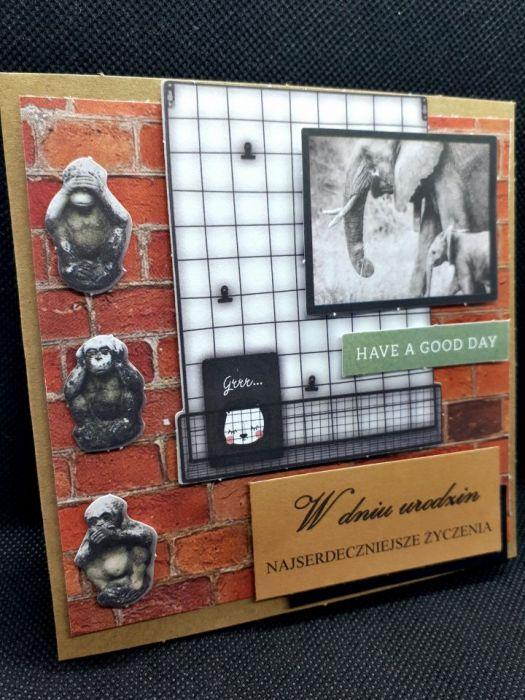 Kartka urodzinowa w stylu loft #4