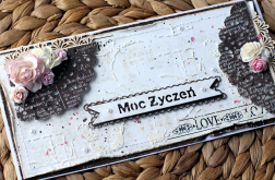 Urodzinowa/imieniowa z bukietem kwiatów br