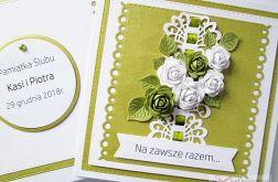 Kartka NA ZAWSZE RAZEM z limonkowymi różami
