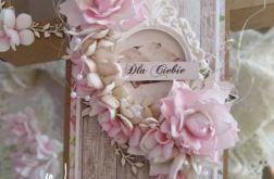 Kartka urodzinowa z kwiatkami