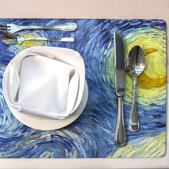 Zestaw 4 dużych podkładek na stół, van Gogh