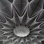 Obraz z nici, String Art, Mandala