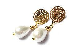 Pearls /white/ perły naturalne vol. 1- kolczyki