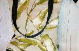 Torebka damska torba shopper liście