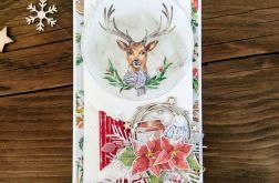 Kartka świąteczna z reniferem #34