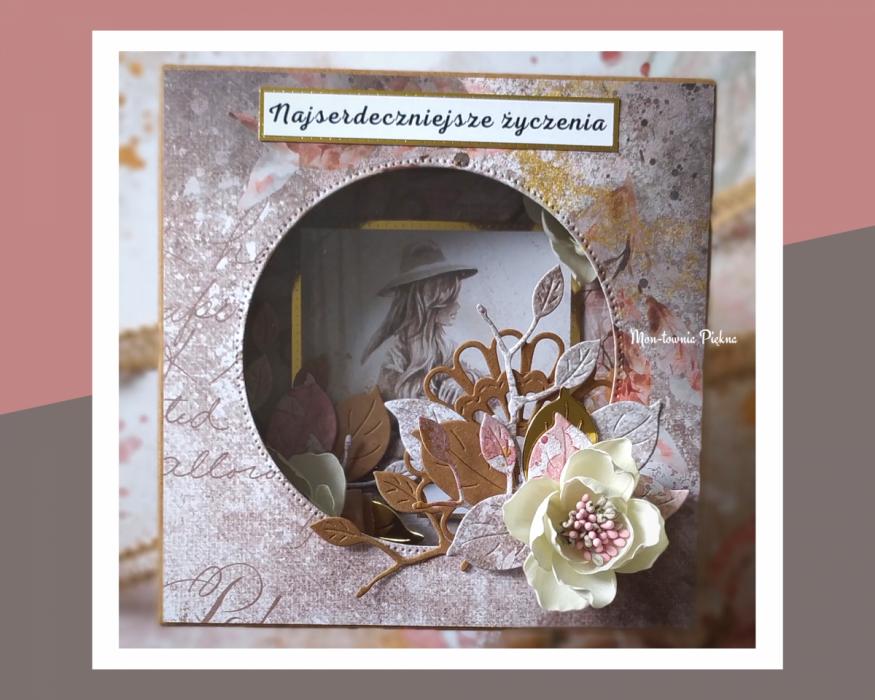 Kartka Bajka wz 2 urodziny - pudełko do kartki