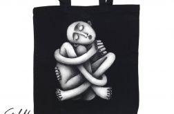 Zaplątanie - torba z nadrukiem czarna