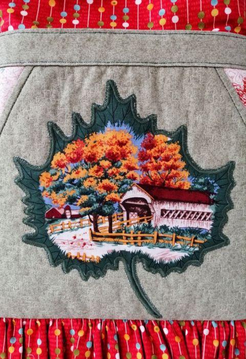 Jesień w zagrodzie - worek ozdobny -
