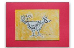 Ptaszek nr 2- rysunek dekoracyjny