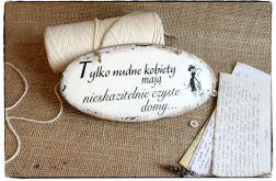 Szyld Tabliczka z napisem ~Nudne kobiety....~
