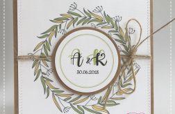 Rustykalne zaproszenia na ślub #1