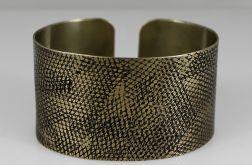 Mosiężna bransoleta - wężowa 2