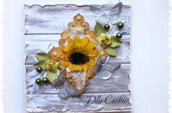 Słoneczna kartka z motylkami