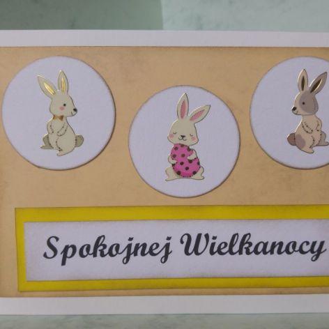Kartka wielkanocna z króliczkami (1)