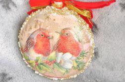 Bombka z zimowymi ptaszkami