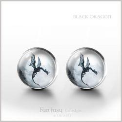 Black Dragon - kolczyki wkrętki