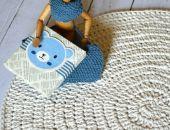 bawełniany dywan ecru