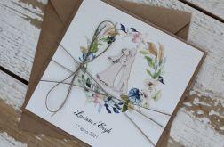 Kartka ślubna z kopertą - życzenia i personalizacja 1r