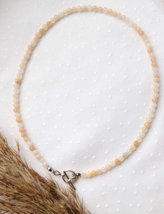 Naszyjnik z awenturynem - różowe kamienie na szyję
