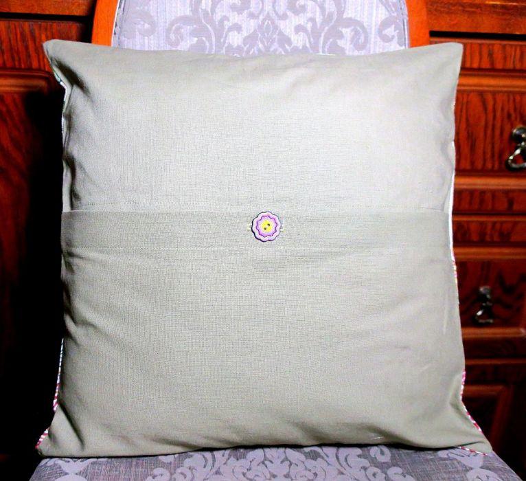 Poszewka na poduszkę LETNI OGRÓD 40 cm x 40 cm  - Poszewka kwiaty