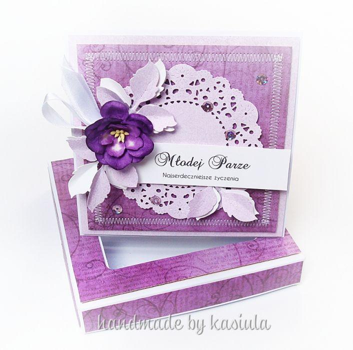 Jesienna Ślubna kartka w pudełku
