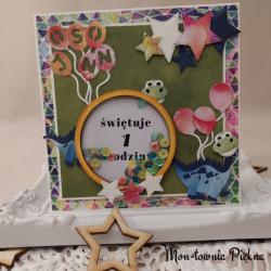 Kartka urodzinowa Dinozaury