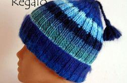 """czapka """"błękitne szaleństwo"""""""