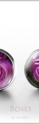 Róże 2 - kolczyki wkrętki